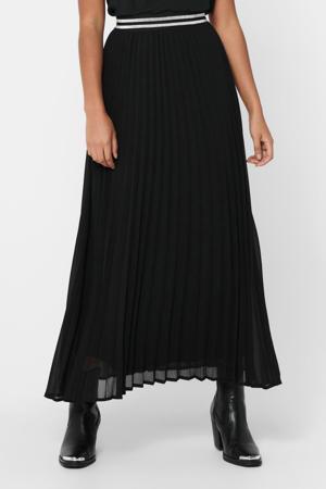 semi-transparante rok ONLMICA met plooien zwart