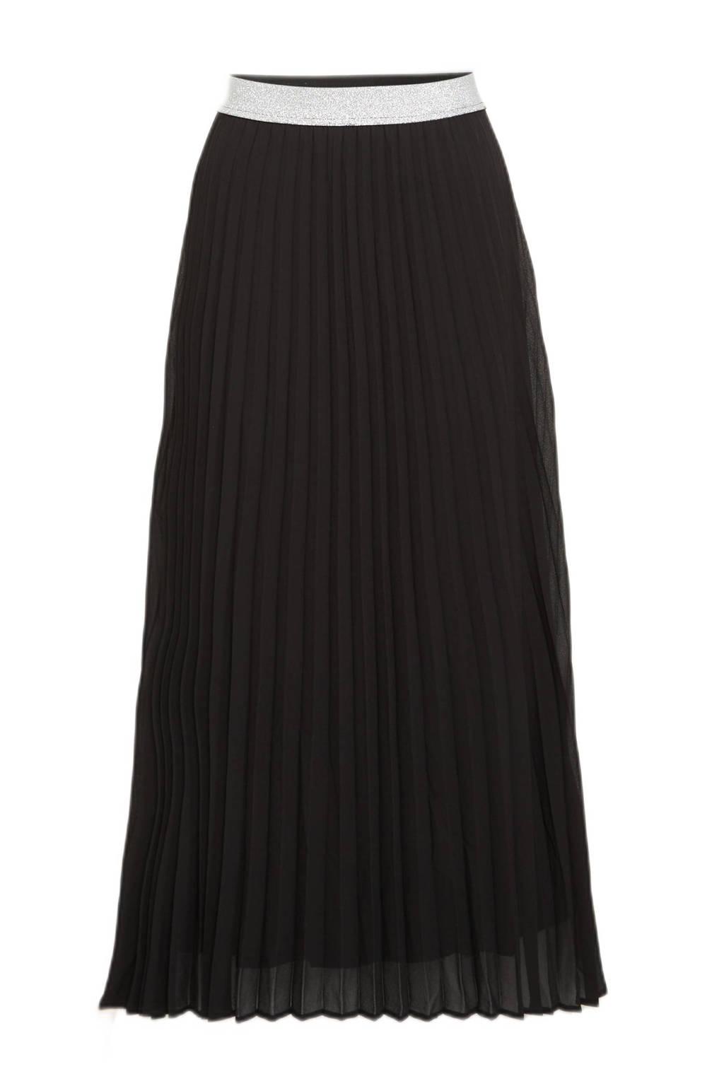ONLY semi-transparante rok ONLMICA met plooien zwart, Zwart