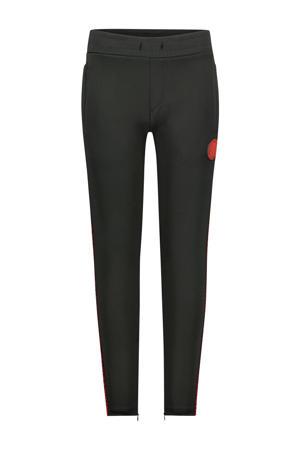 skinny joggingbroek met zijstreep zwart/rood