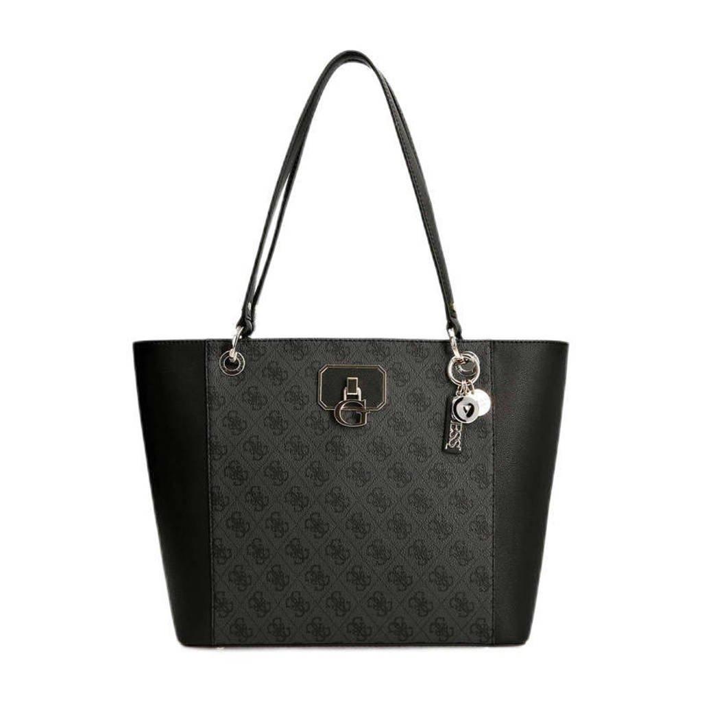 GUESS  shopper Noelle antraciet/zwart, Antraciet/zwart