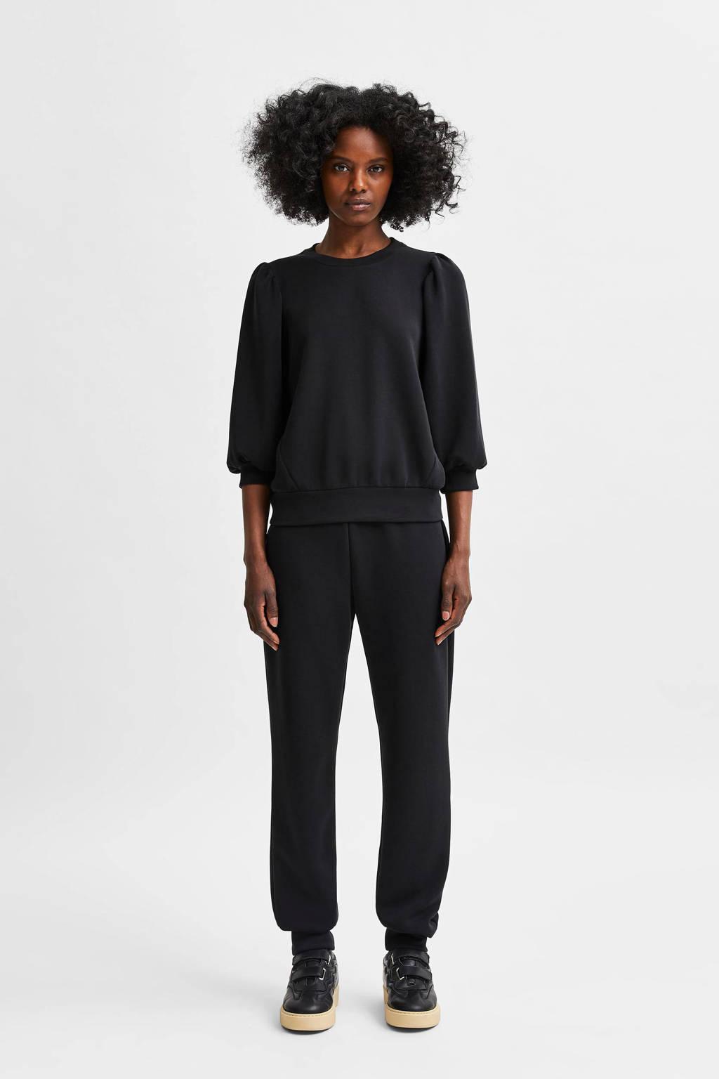 SELECTED FEMME trui SLFTENNY  zwart, Zwart