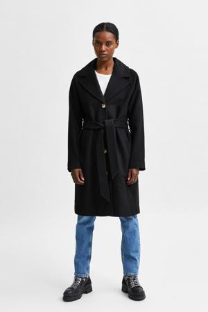coat SLFMILAN met wol zwart