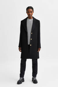 SELECTED FEMME  coat SLFNEW met wol zwart, Zwart