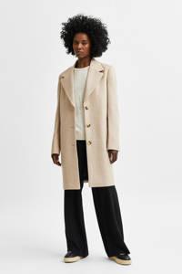 SELECTED FEMME  coat SLFNEW met wol ecru, Ecru