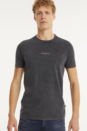 T-shirt met logo antraciet