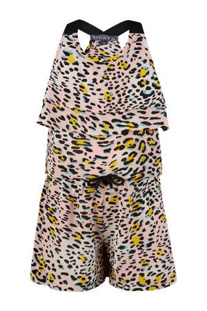 jumpsuit Ilaya met dierenprint roze/geel/zwart