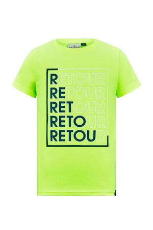 T-shirt Enrico van biologisch katoen neon geel