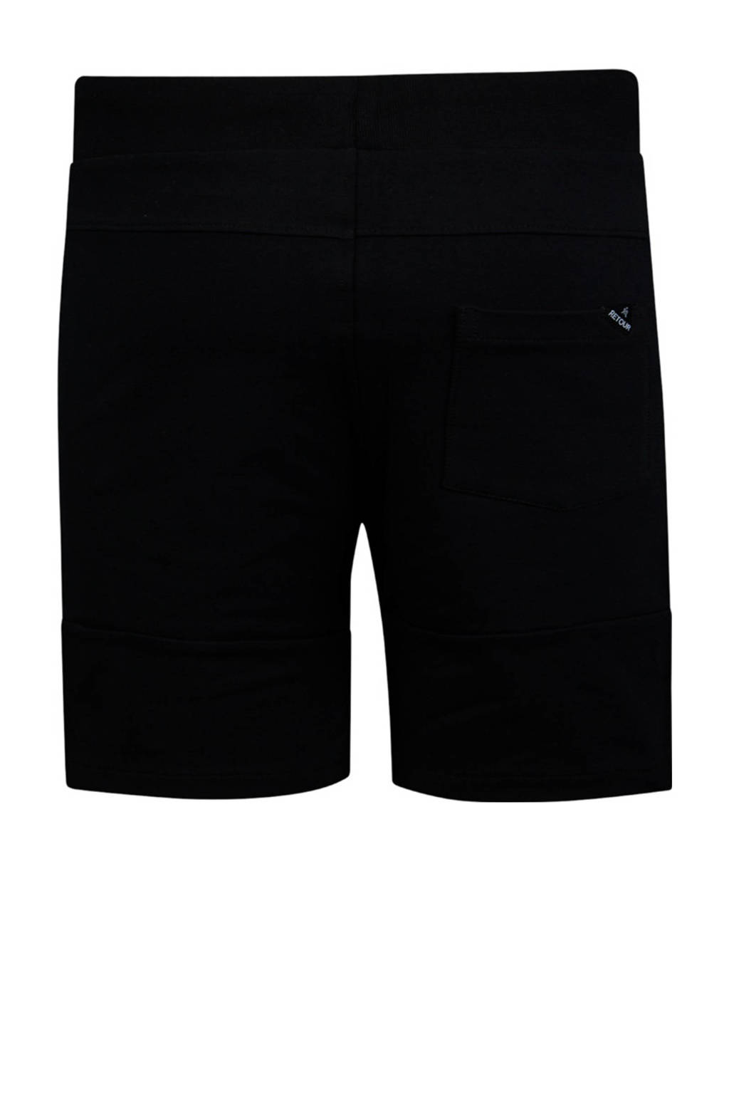 Retour Denim regular fit sweatshort Perry zwart, Zwart