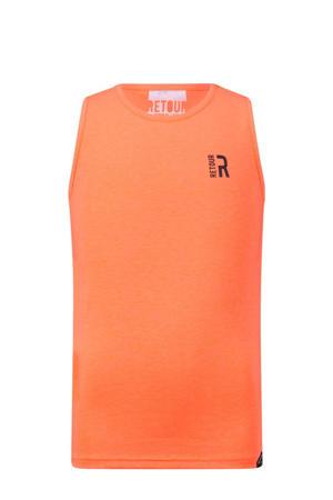 mouwloos T-shirt Mika neon oranje
