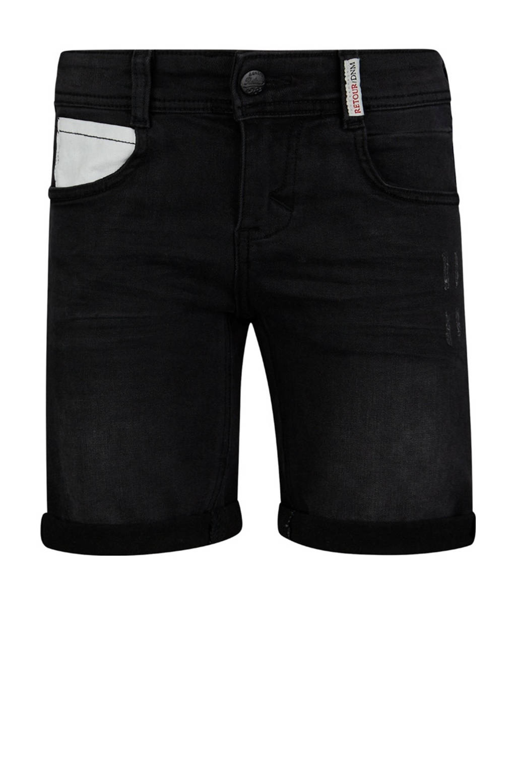 Retour Denim regular fit jeans bermuda Edmundo black denim, Black denim