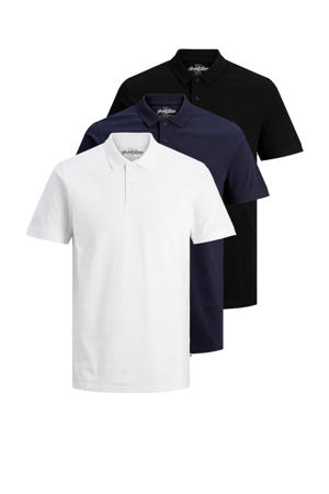 polo (set van 3) wit/donkerblauw/zwart
