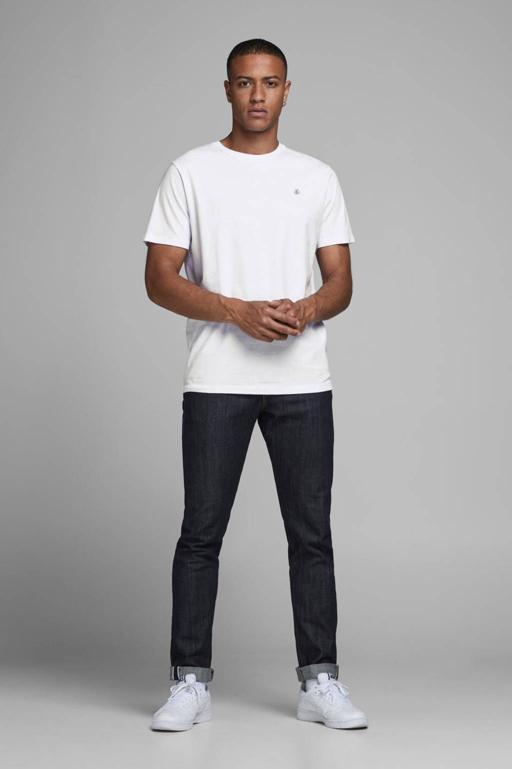 JACK & JONES T-shirt JORJXJ  (set van 5) wit/grijs/groen/blauw/zwart, Wit/grijs/groen/blauw/zwart