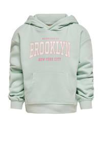 KIDS ONLY sweater College met tekst lichtgroen, Lichtgroen