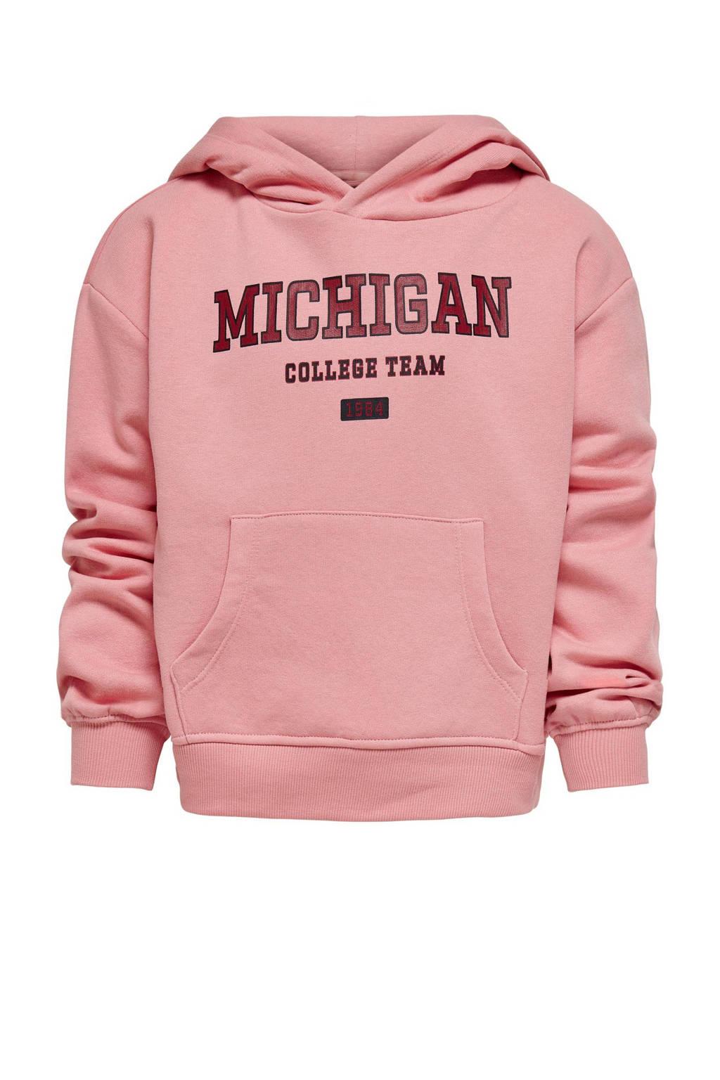 KIDS ONLY sweater College met tekst roze, Roze