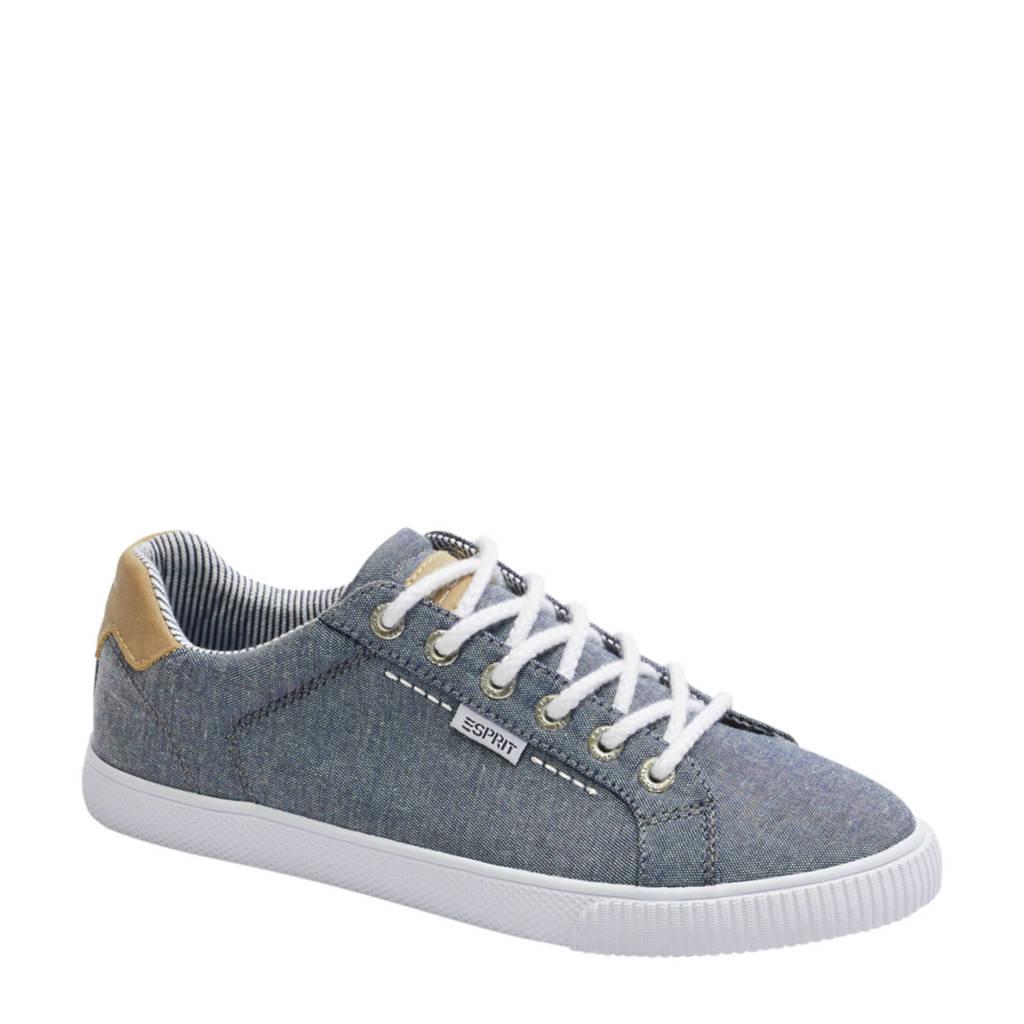 ESPRIT   sneakers blauw, Blauw/bruin