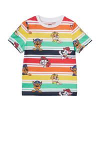 C&A Paw Patrol Paw Patrol T-shirt met all over print geel/groen/rood, Geel/groen/rood