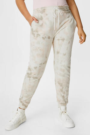 regular fit joggingbroek met all over print ecru