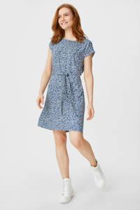 C&A Yessica T-shirtjurk met all over print en ceintuur blauw, Blauw