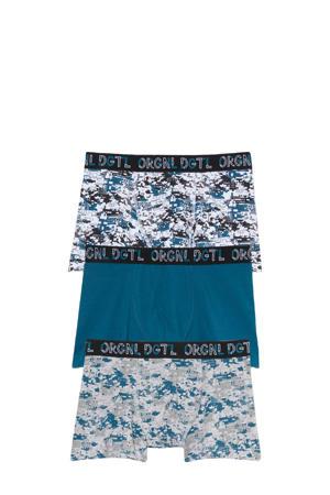 boxershort - set van 3 blauw/wit/lichtgrijs