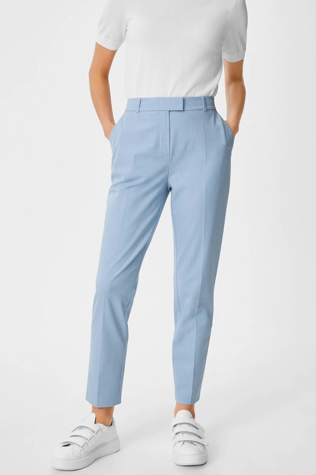 C&A Yessica Tailored slim fit broek lichtblauw, Lichtblauw