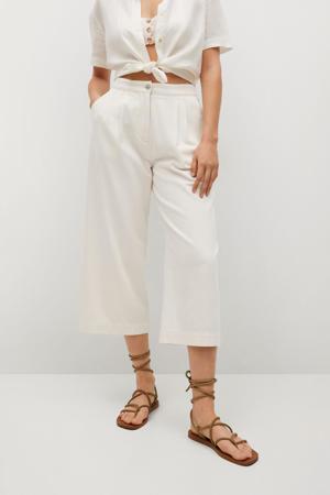 high waist loose fit culotte ecru