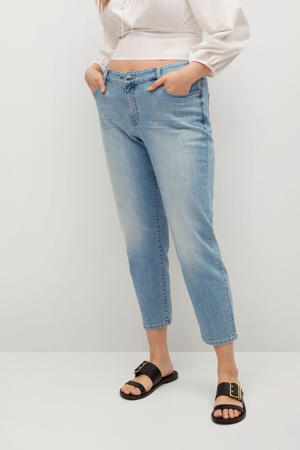 cropped mom jeans blauw