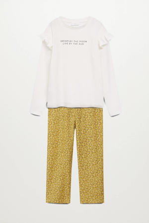 pyjama okergeel/wit