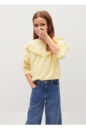 sweater met ruches geel
