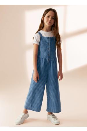 gestreepte jumpsuit blauw/wit