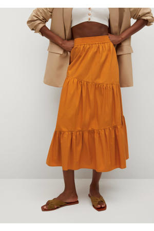 rok met plooien oranje