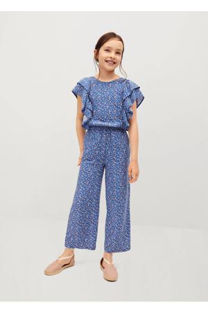gebloemde jumpsuit blauw/roze