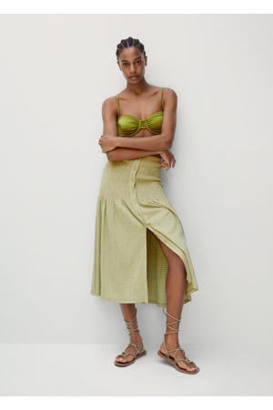 geruite rok groen
