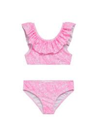 Mango Kids crop bikini met ruches roze, Roze