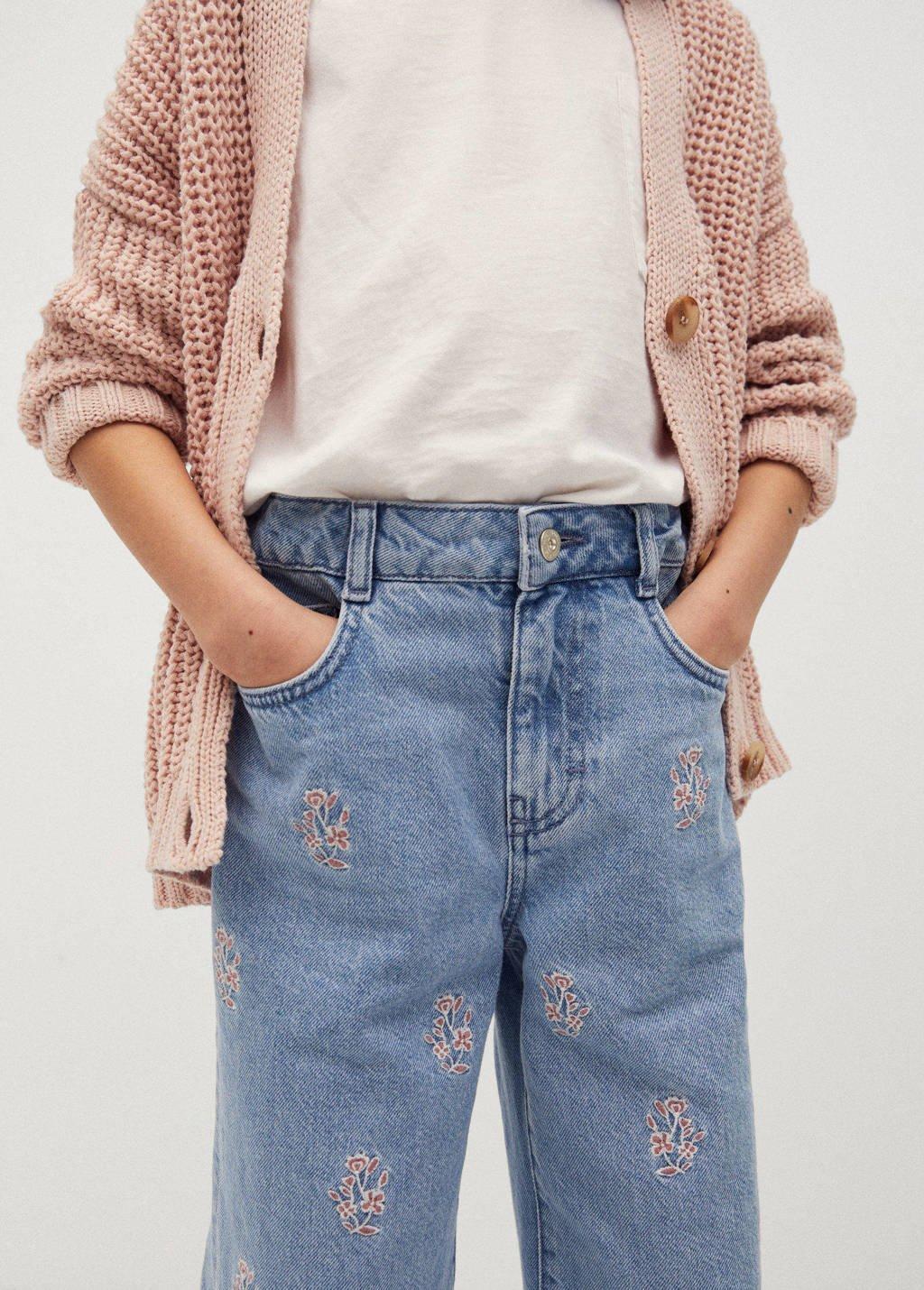 Mango Kids jeans in culotte model blauw, Blauw