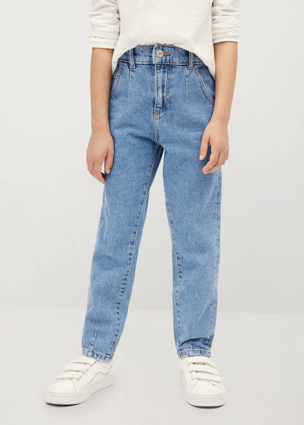Mango Kids boyfriend jeans blauw, Blauw