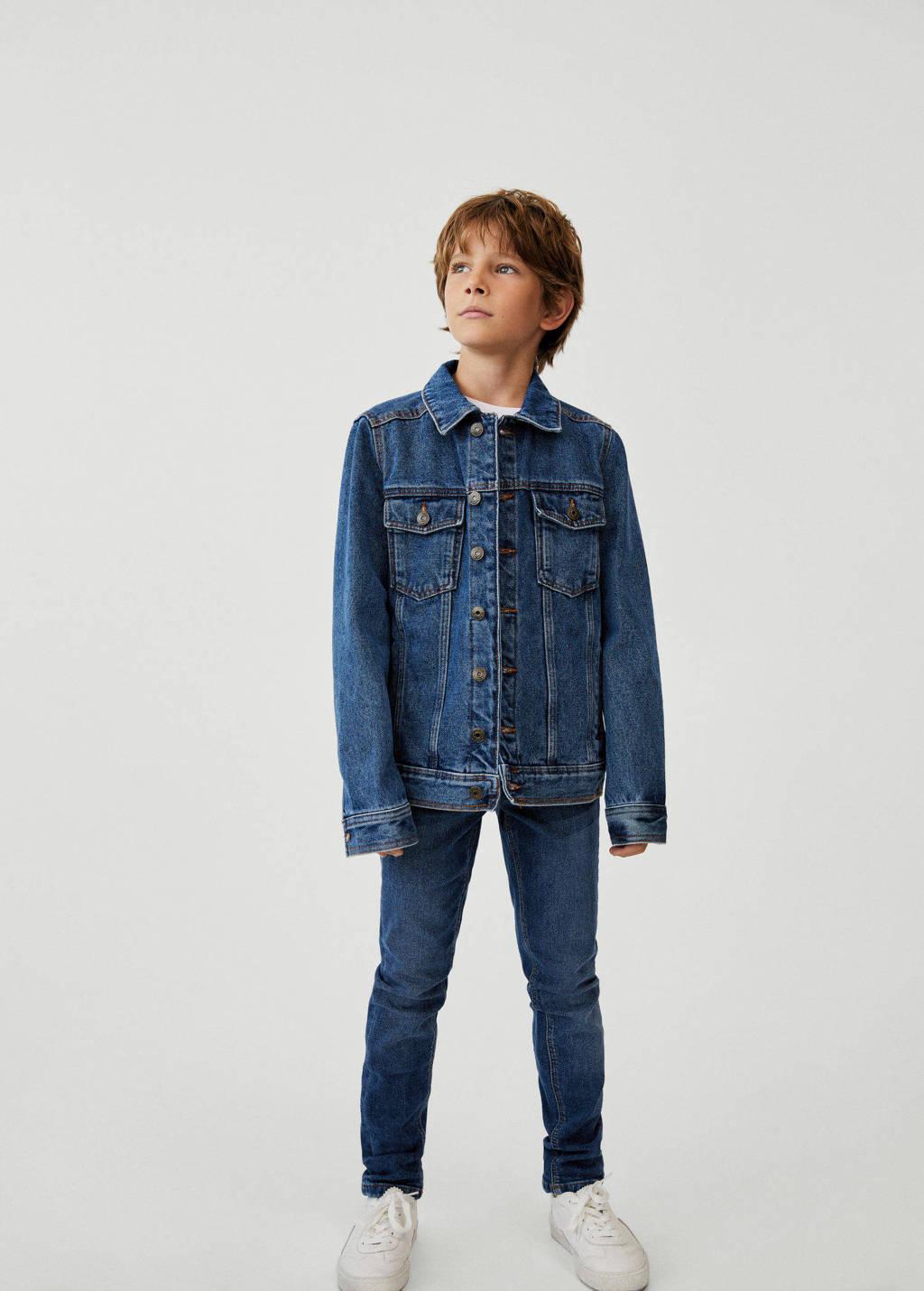 Mango Kids spijkerjas blauw, Blauw