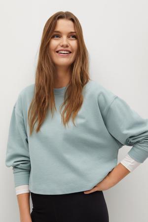 trui van biologisch katoen middenblauw