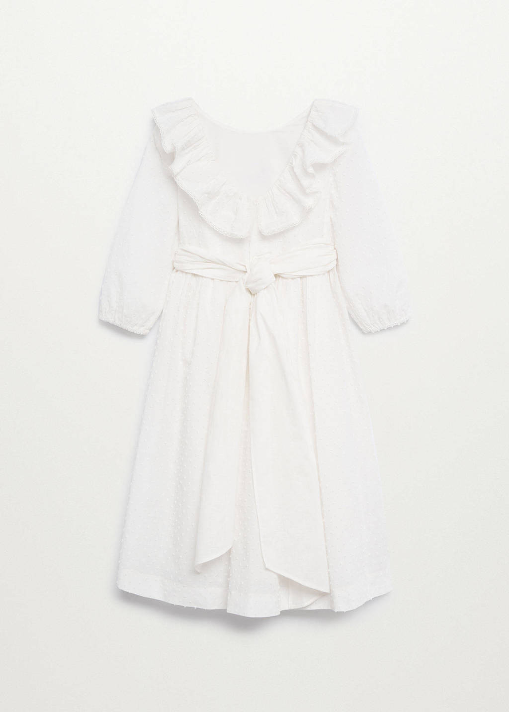 Mango Kids jurk van biologisch katoen naturel wit