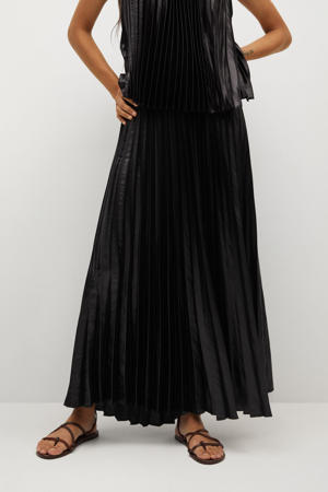 plissé rok zwart