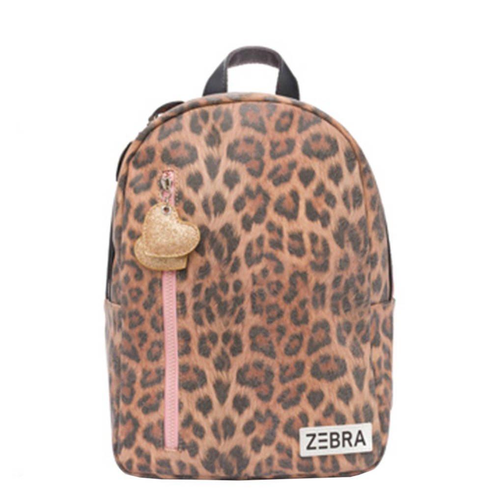 Zebra Trends  rugzak Leo M lichtbruin, Lichtbruin/roze