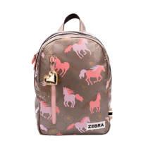 Zebra Trends  rugzak Hop Galop M bruin/roze, Bruin/roze