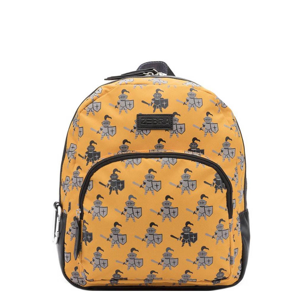 Zebra Trends  rugzak Knight geel, Geel/zwart
