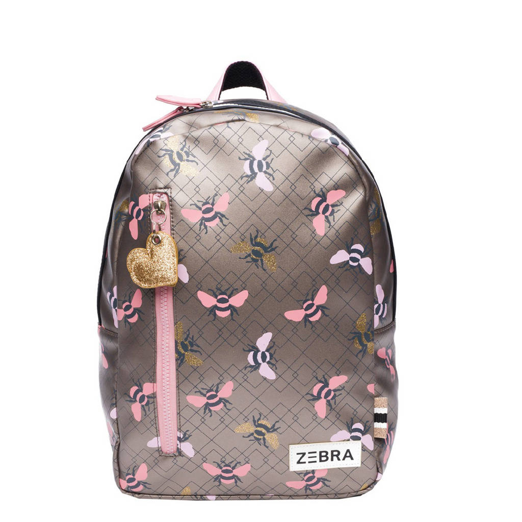 Zebra Trends  rugzak Bees M bruin/roze, Bruin/roze