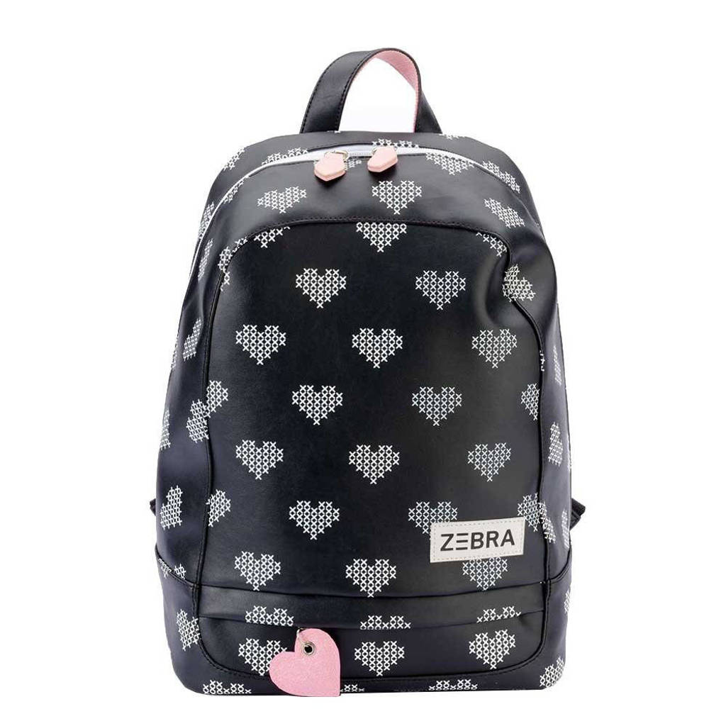 Zebra Trends  rugzak Crossed Hearts XL zwart, Zwart