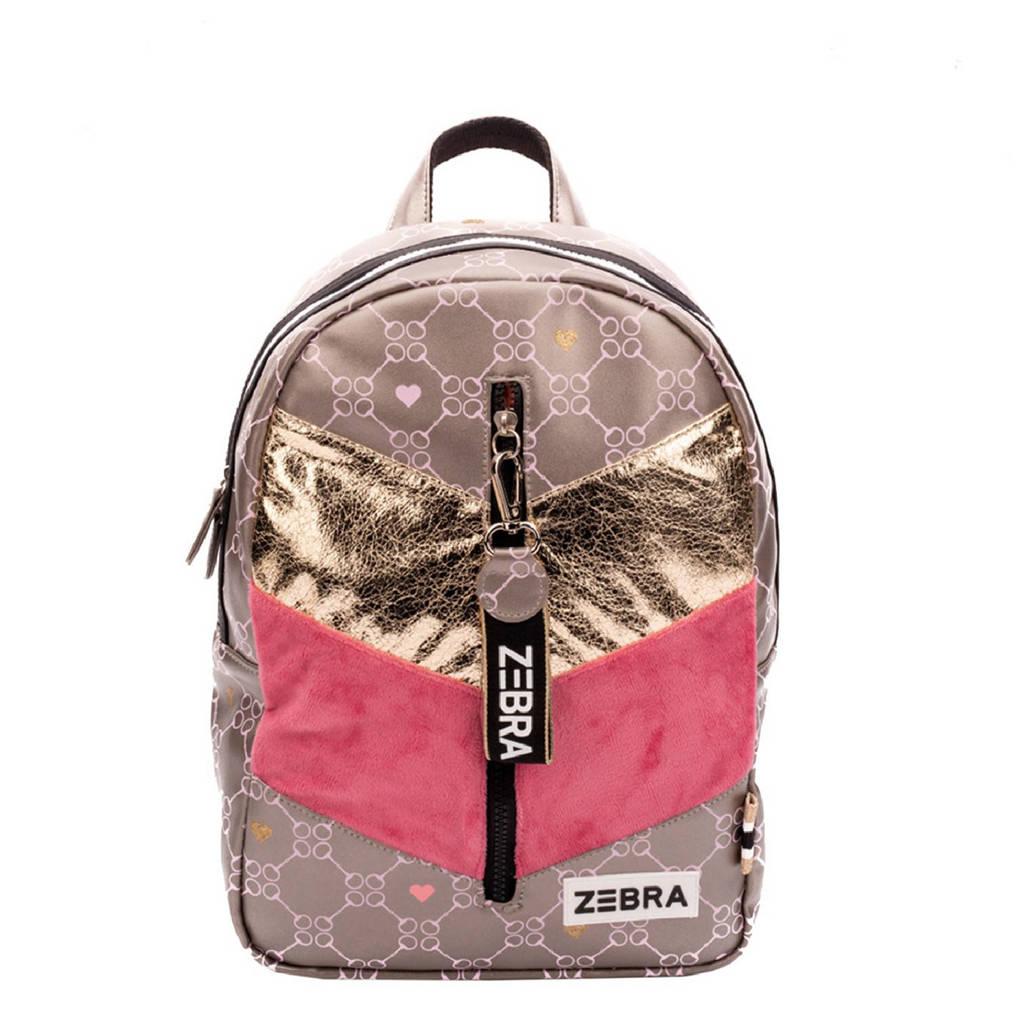 Zebra Trends  rugzak Velvet Horse M bruin/roze, Bruin/roze