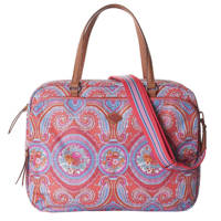 Oilily  15.6 inch laptoptas City Rose Paisley koraalrood, Koraalrood