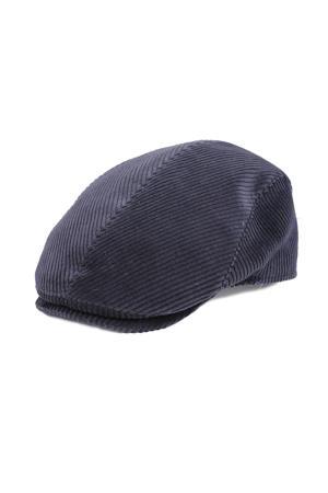 corduroy flatcap donkerblauw