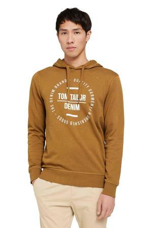 sweater met printopdruk deep cognac