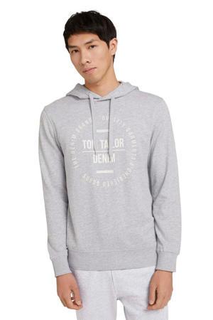 sweater met printopdruk light stone grey mel