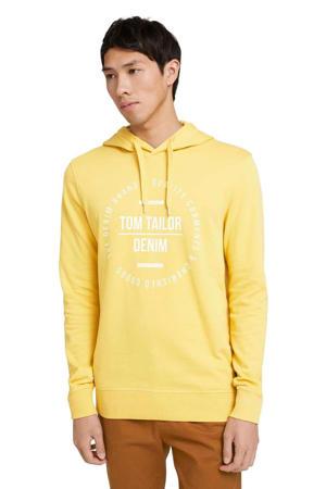 sweater met printopdruk golden ochre